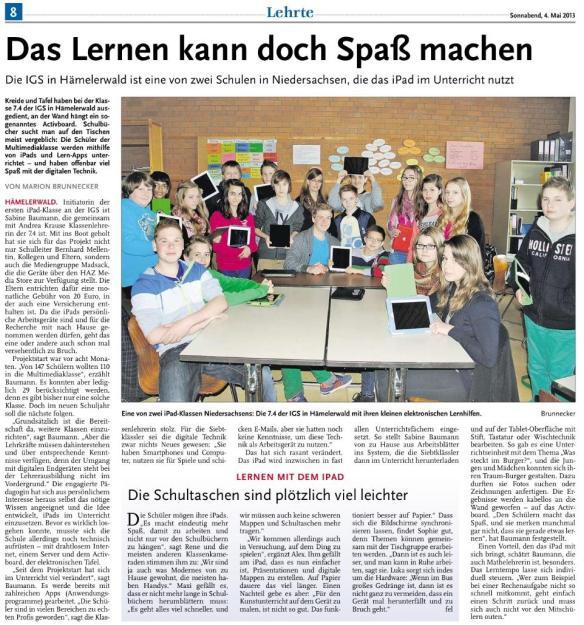 Lehrter Anzeiger 04.05.2013